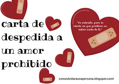 ▷ Carta de Despedida a un Amor Prohibido e Imposible