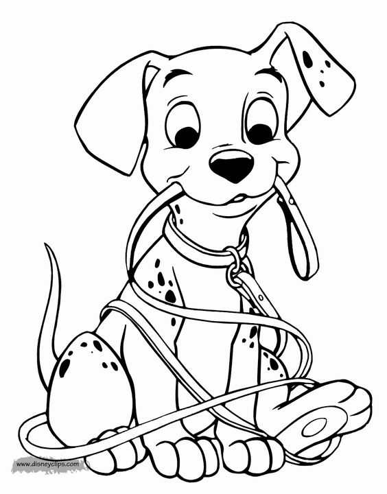 Dogs coloring pages 46