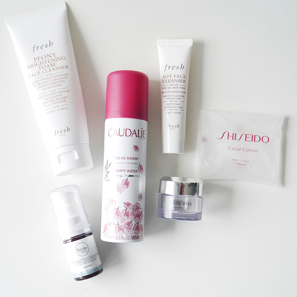 Empty skincare products from the drugstore, department store, and natural beauty brands