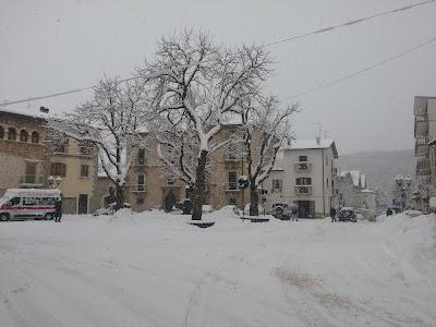 Campo di Giove, Piazza A. Duval sotto la neve