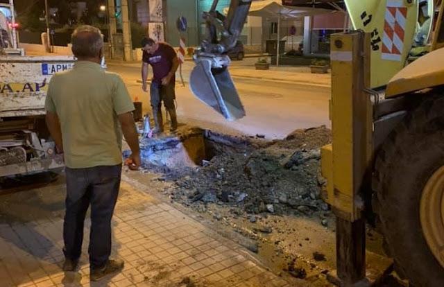 Άμεση αποκατάσταση βλάβης στην ύδρευση του Άργους από τη ΔΕΥΑΡΜ
