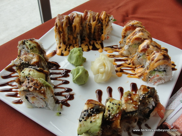 dragon roll at San Pedro Square Market in San Jose, California