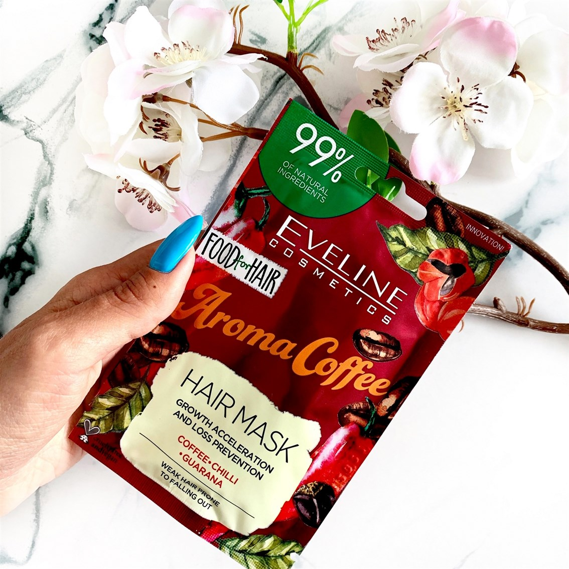 Eveline Food For Hair maska Aroma Coffee