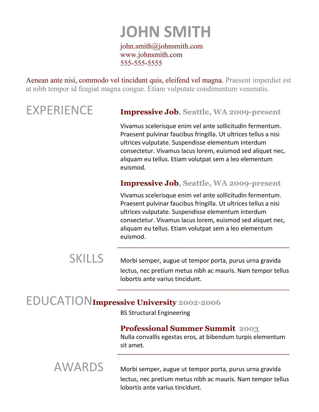 simple curriculum vitae format doc resume writing example simple curriculum vitae format doc currculum vitae simple samples of how to make a professional resume