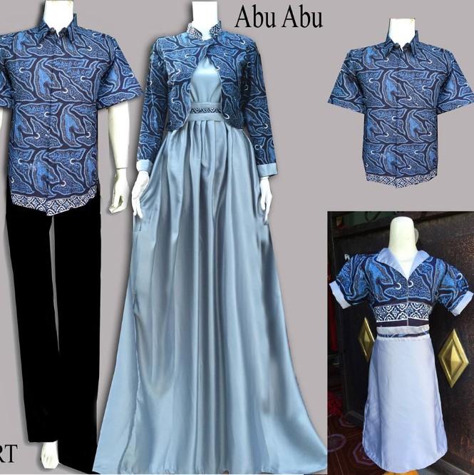 10 Model Baju Batik Couple Gamis Elegan Terbaru 2018