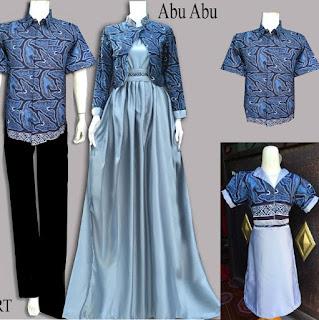 10 Model Baju Batik Couple Gamis Elegan Terbaru 2017