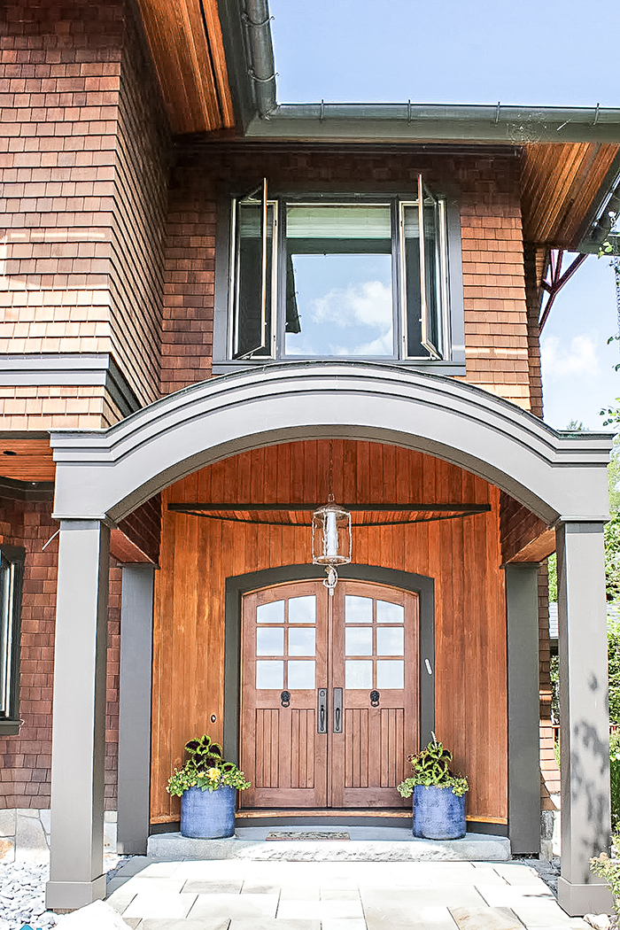 Front door of New Hampshire home tour - Summer