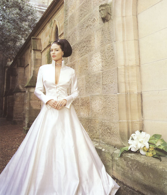 Gowns For A Wedding: Russian White And Blue Wedding Dress Designs