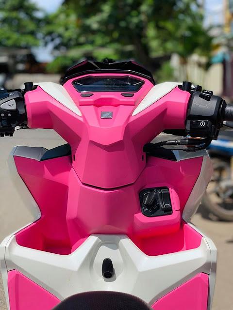 Sơn nhựa nhám xe Honda Vario màu hồng cực đẹp