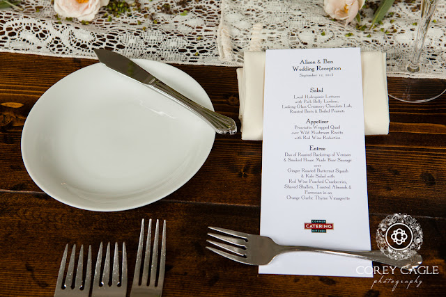 wedding placesetting | Corey Cagle Photography
