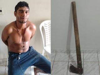 Homem é preso após ameaçar menor com machado em Nova Floresta