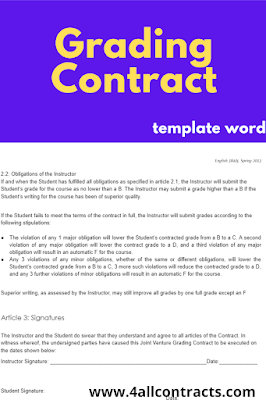 Sample grading contract doc