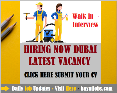 Walk In Interview For Female Cleaners In Dubai 2019