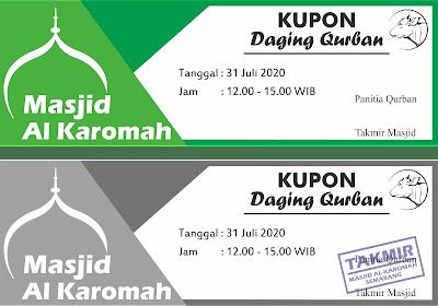 Download Contoh Desain Kupon Qurban 1441 H
