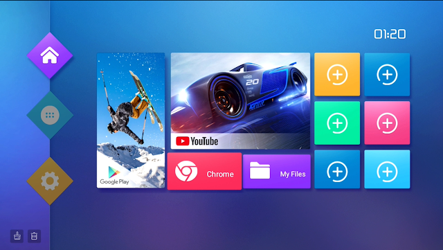 t95 smart tv box home page