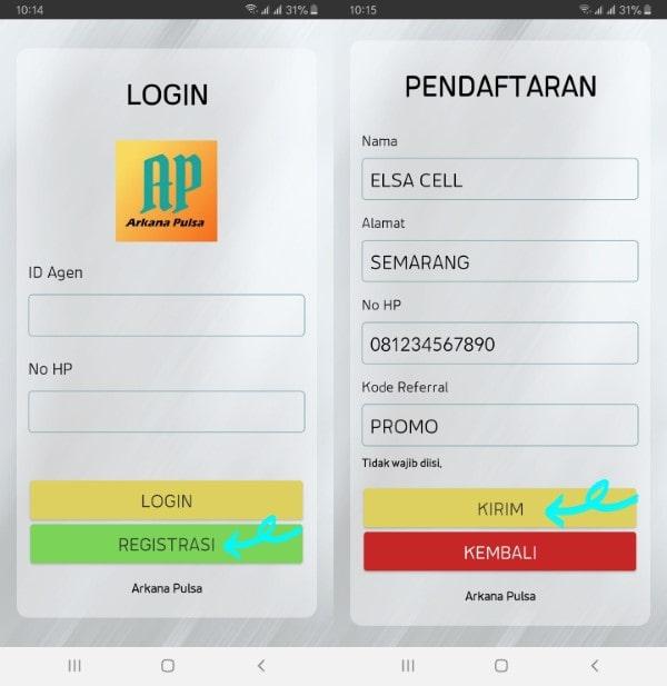 Cara Daftar Agen Pulsa Langsung Melalui Aplikasi ArkaanPulsa.com