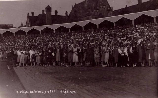 1931 год. Рига. Парадная площадь (Эспланада). VII Вселатвийский праздник песни