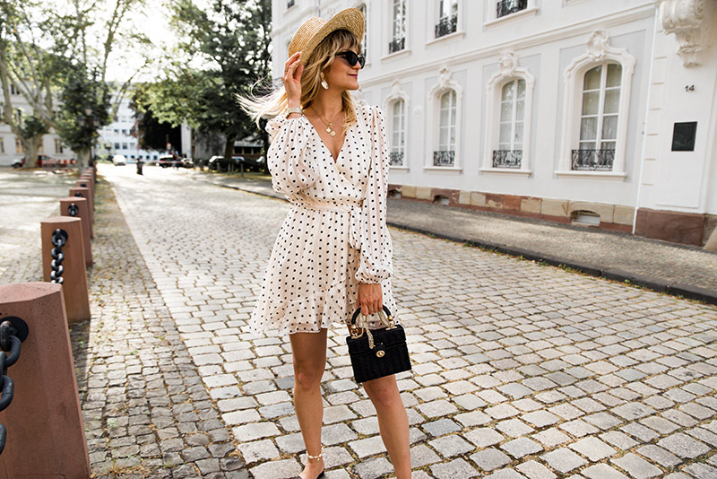 H&M straw hat Loavies dress Zara starw bag