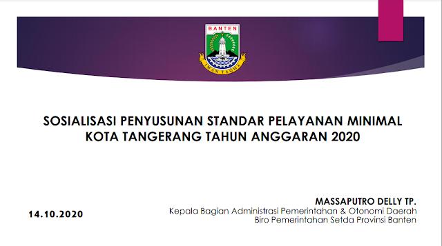 Kota Tangerang Terus Melakukan Optimalisasi Penerapan SPM