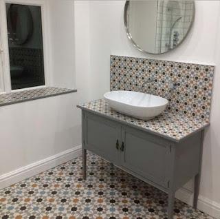 Ceramic design modern minimalist bathroom floor