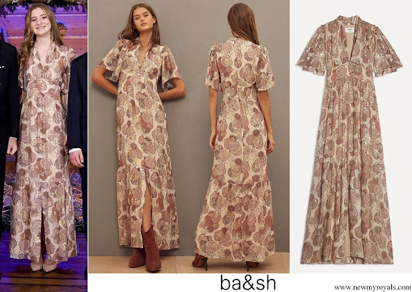 crown princess elisabeth wore ba&sh hide dress