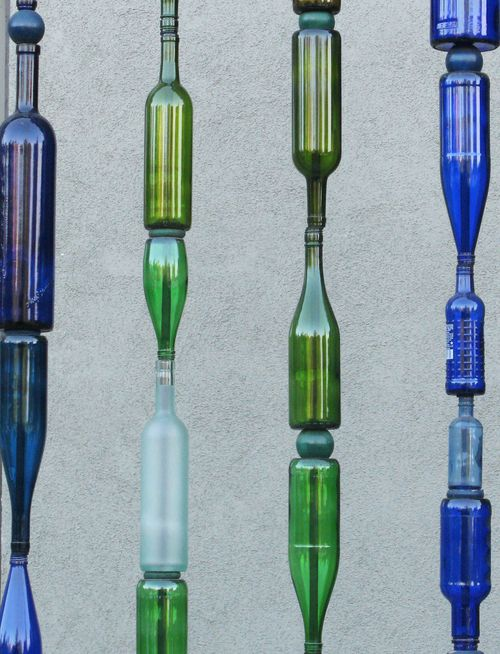 Upcycled garden style a website from gardens inspired for Reuse wine bottles ideas