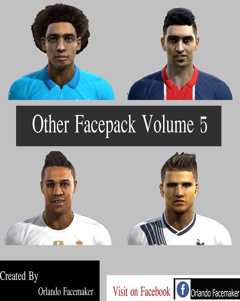 PES 2013 Oher Facepack Volume 5 By Orlando Facemaker