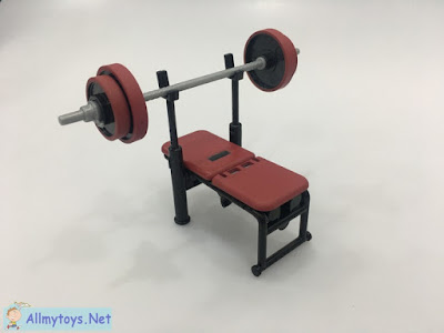 Ghachapon Miniature Toy Gym Barbell Chair