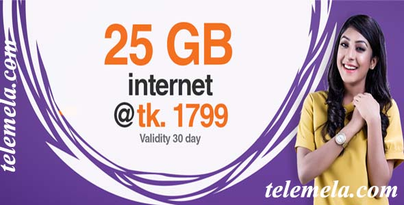 banglalink 25GB internet at 1799tk