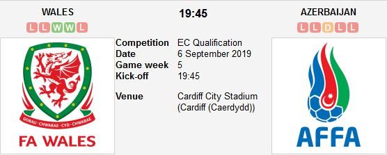 مشاهدة مباراة ويلز وأذربيجان بث مباشر بتاريخ 06-09-2019 التصفيات المؤهلة ليورو 2020