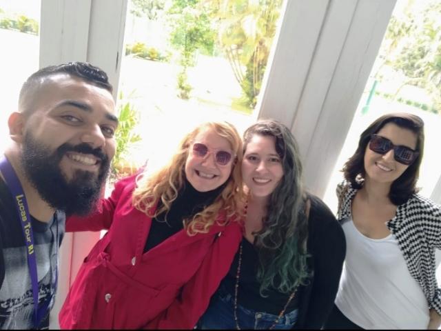 Lucas, eu, Ju e Mari em Petrópolis, região serrano do Rio de Janeiro