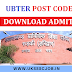 Download UBTER POST CODE 60 Admit card 2017 - www.ubter.in