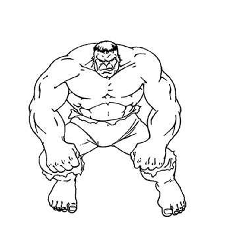 printable hulk coloring book pages | 12 Free Printable The Hulk Coloring Pages