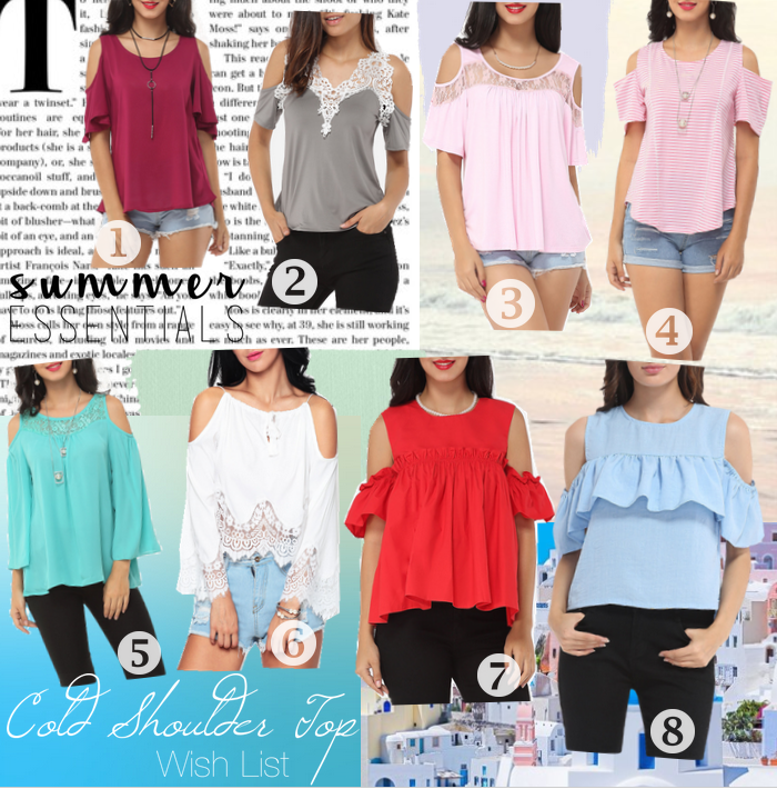 Cold Shoulder Tops Wishlist from Fashionmia