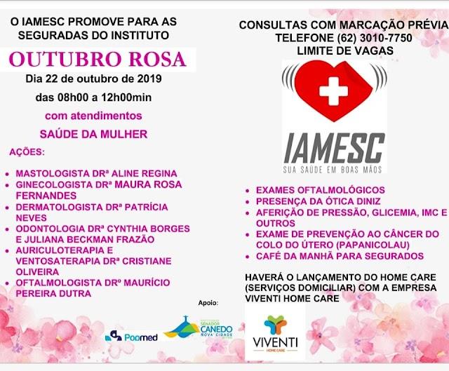 Senador Canedo: Prevenção ao câncer de mama é tema de evento para Servidoras municipais