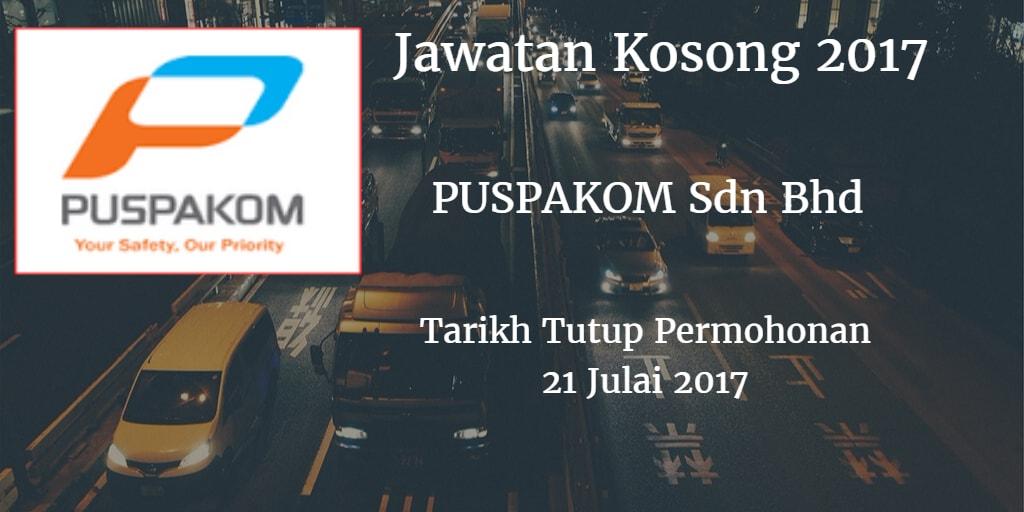 Jawatan Kosong PUSPAKOM Sdn Bhd 21 Julai 2017
