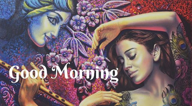 radha krishna good morning pic