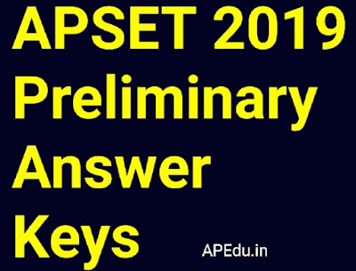 APSET 2019 Preliminary Answer Keys (Paper I and Paper II