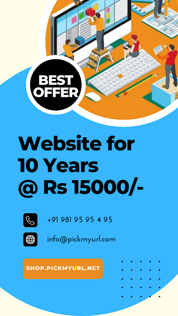 Website for 10 Years for just Rs 15000/-
