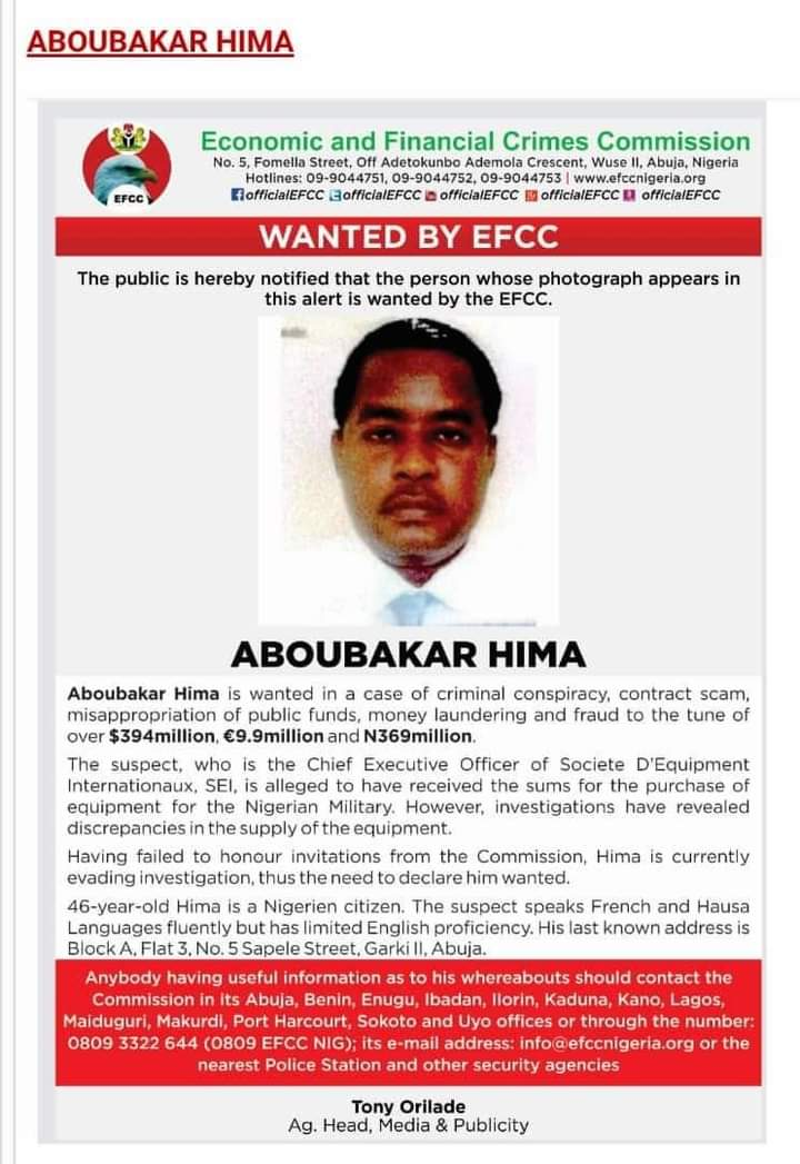 46-Yr-Previous Nigerien Who Ran Away With N206b Nigeria Arms Cash Declared Needed by EFCC