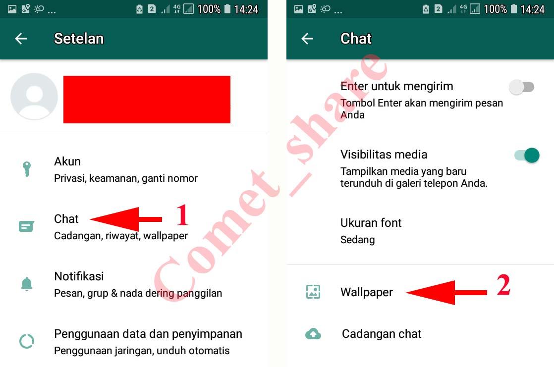 4 Cara Mengganti Background Wallpaper Whatsapp Dengan