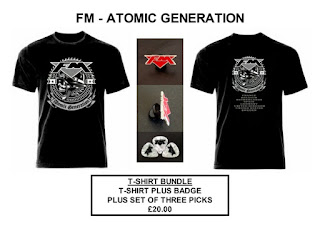 FM - Atomic Generation - merchandise bundle - t-shirt - badge - picks