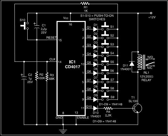 Simple Electronics Code Lock System