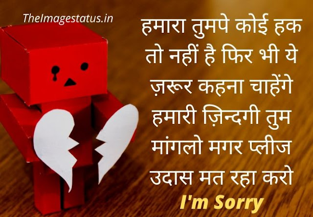 Sorry Images For Love In Hindi