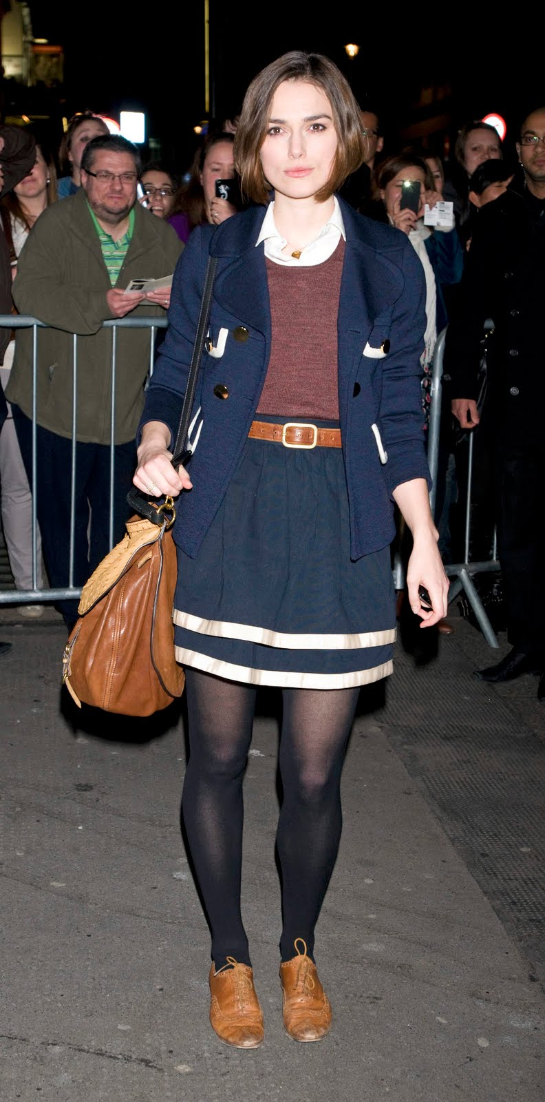 Keira Knightley In Black Nylons