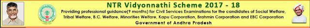 NTR Vidyonnathi Scheme 2017 Online application submission application