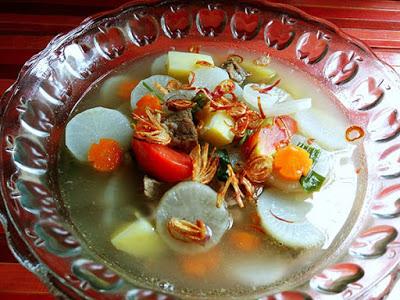 Resep Masakan Sayur Sup Lobak Bening Daging Sapi Nikmat