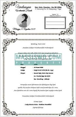 undangan walimatul hamli 7 bulanan