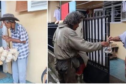 Kakek Penjual Kerupuk Ini Rela Lapar Demi Berbagi Rejeki Dengan ODGJ