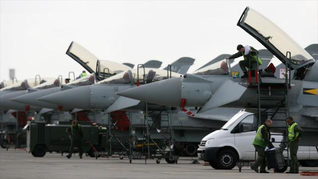 Reino Unido envía cazas Typhoon a Rumanía por tensiones con Rusia